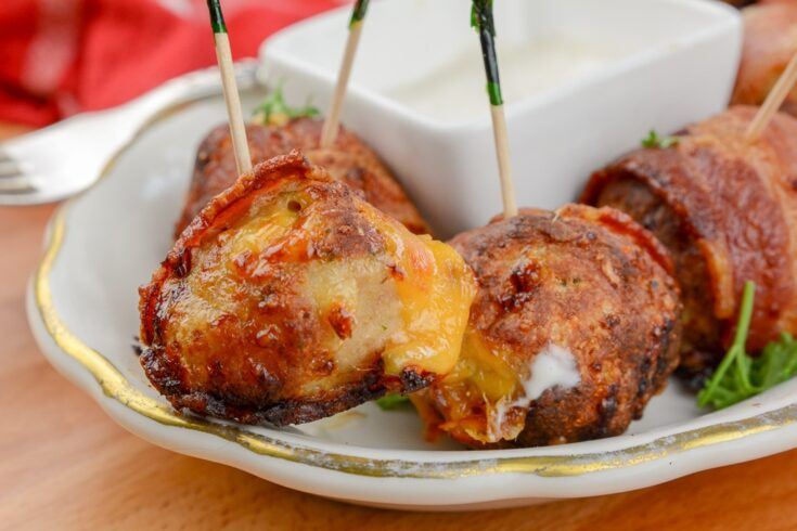 Air Fryer Chicken Bacon Ranch Poppers