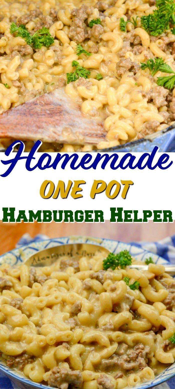 Homemade One Pot Hamburger Helper