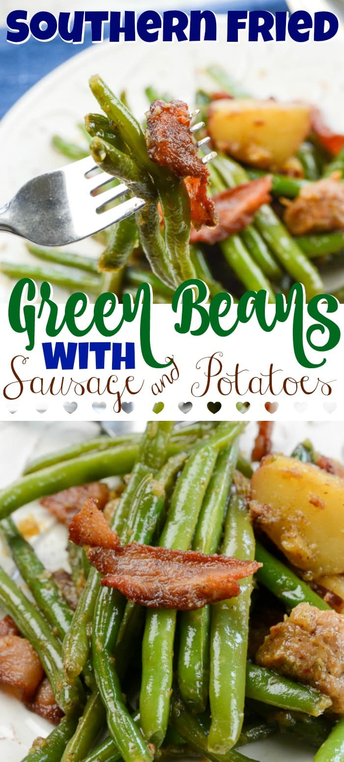 Southern Fried Green Beans and Potatoes