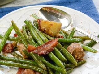 Southern Fried Green Beans with Bacon, Potatoes, and Sausage