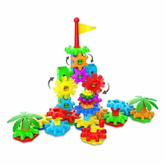 The Learning Journey Stem Techno Kids Stack & Spin Playland - Build Your Own Structure That Moves & Works
