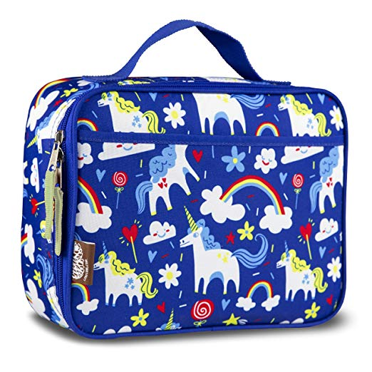 LONECONE Kids' Insulated Fabric Lunchbox - Cute Patterns for Boys and Girls, Gary the Unicorn, Standard