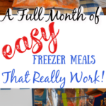 A Full month of easy instant pot freezer meals