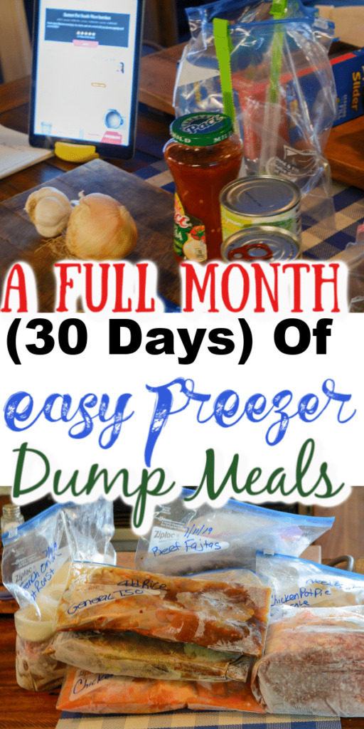 a full month 30 days of easy freezer dump meals