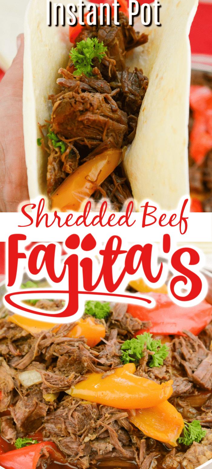 instant pot shredded beef fajitas
