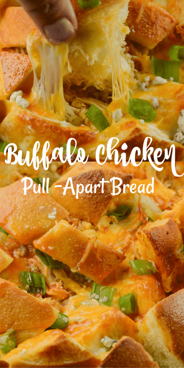 Air Fryer Buffalo Chicken Pull Apart Bread