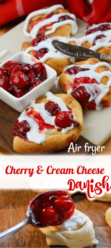 Air Fryer Cherry Danish