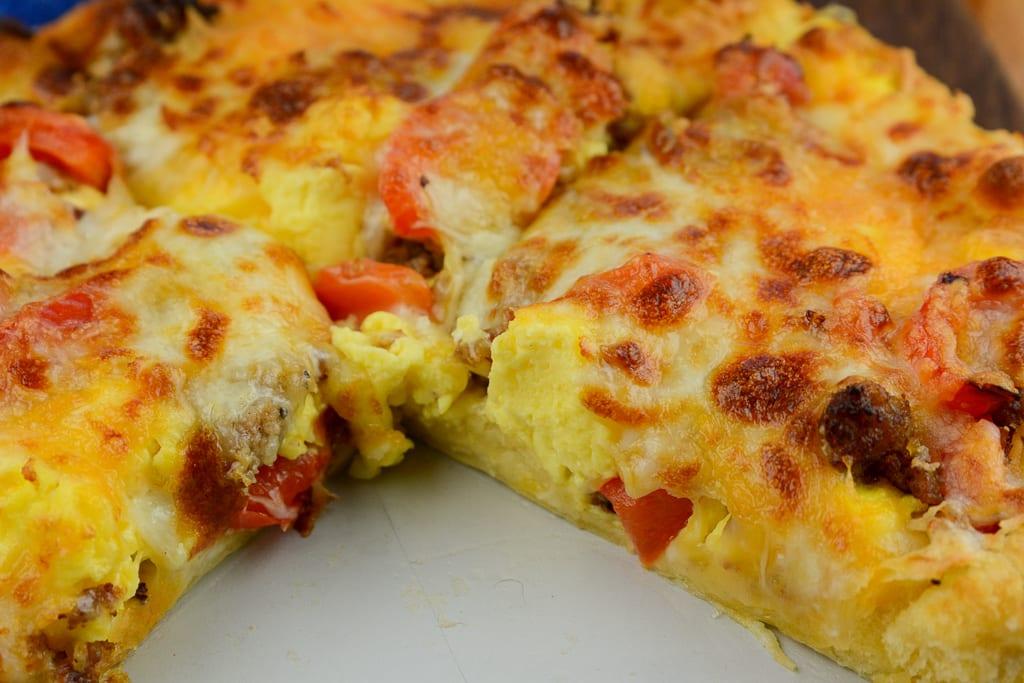 Airfryer breakfast pizza