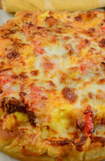 Airfryer breakfast pizza whole