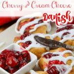 Airfryer cherry and cream cheese danish