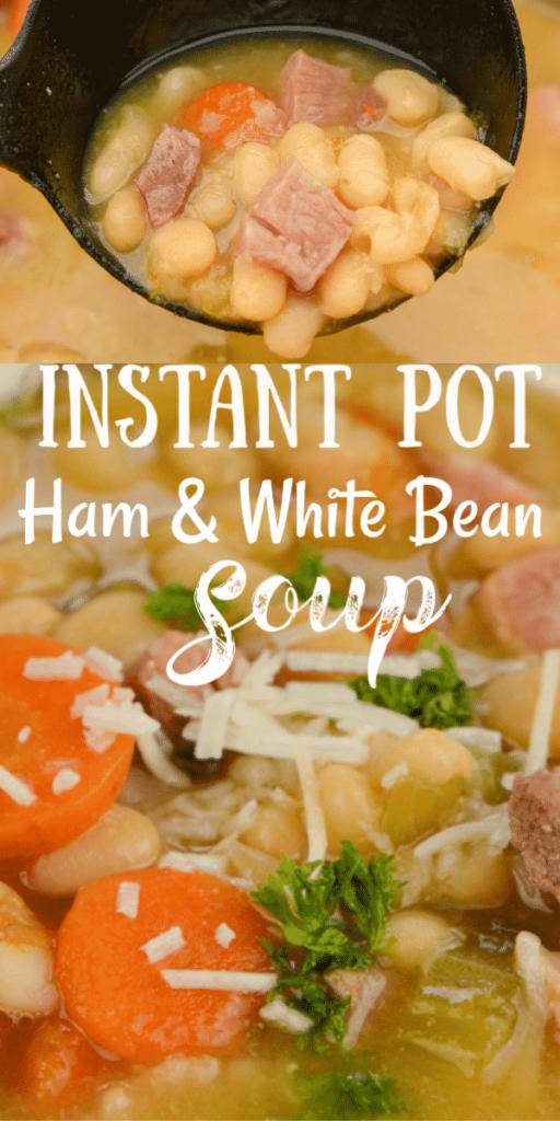 Instant Pot White Bean and Ham Soup