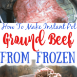 How to make ground beef from frozen