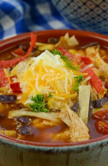 Instant Pot Chicken Tortilla Soup (Zero WW Points)
