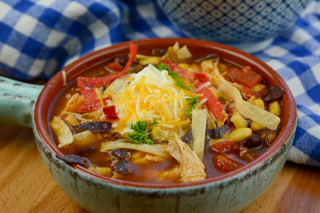 Instant Pot chicken Tortilla Soup zero points