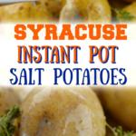 Instant pot Salt Potatoes