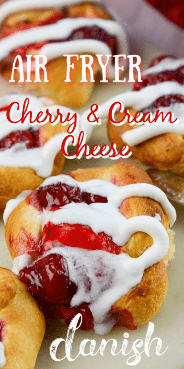 Air Fryer Cherry and Cream Cheese Danish