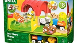 Brio World - 33826 My First Farm | 12 Piece Wooden Toy Train Set for Kids Ages 18 Months and Up