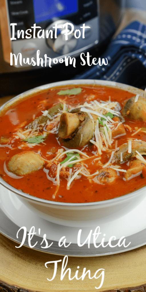 Instant Pot mushroom stew italian