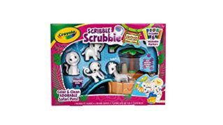 Crayola Scribble Scrubbie, Color & Wash Toy, Collectible Gift for Kids, Safari