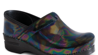 Dansko Professional Petrol Patent Leather Clogs