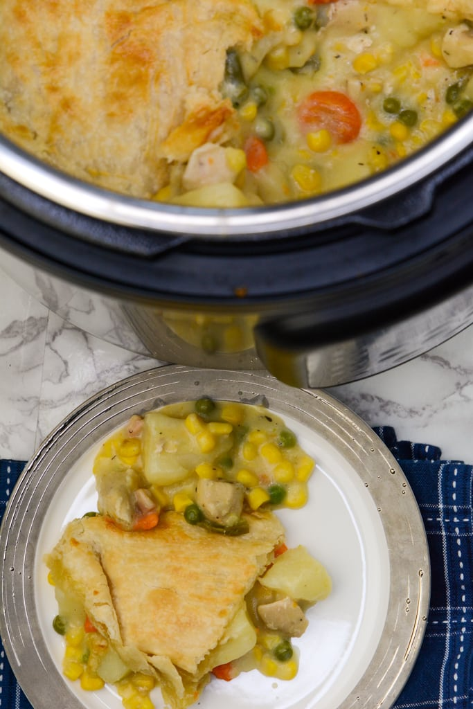 Instant Pot Duo Crisp Chicken Pot Pie