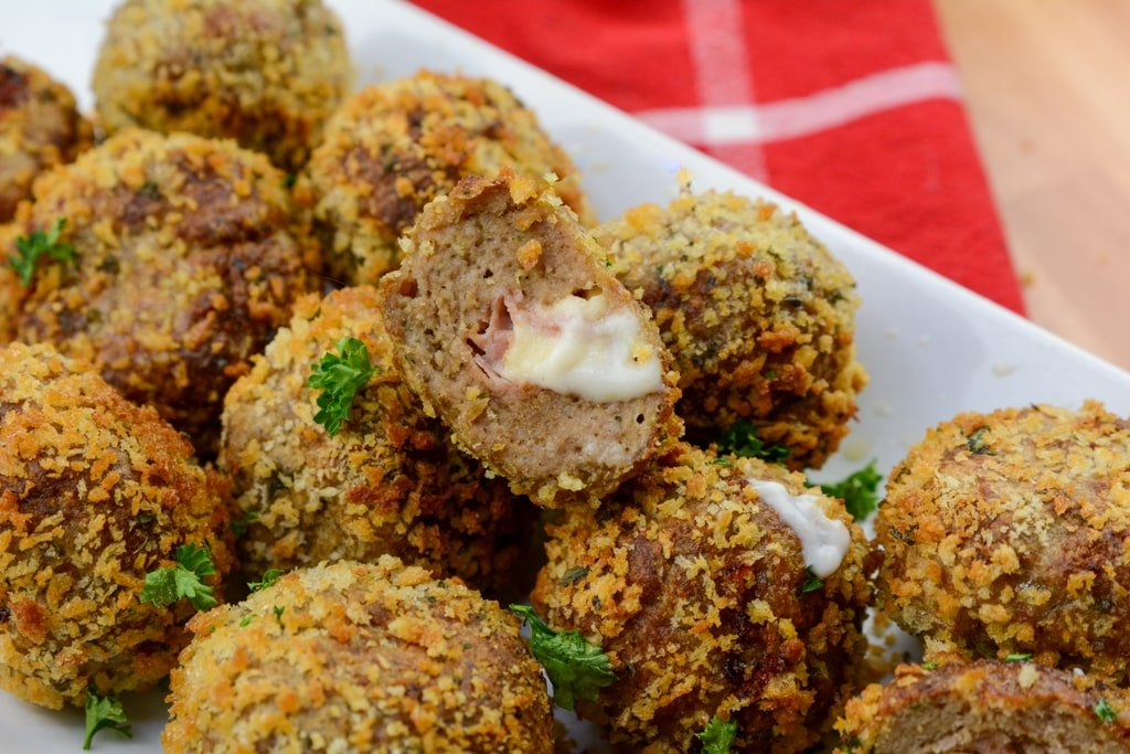 Air Fryer Chicken Cordon Bleu meatballs