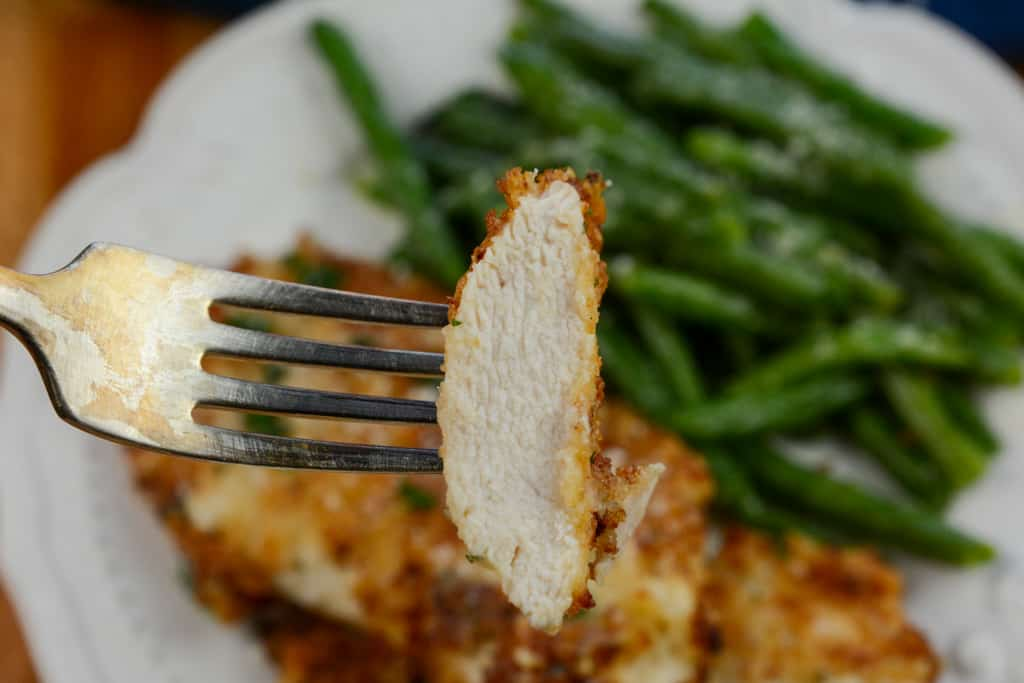 Parmesan Crusted Air Fryer Chicken