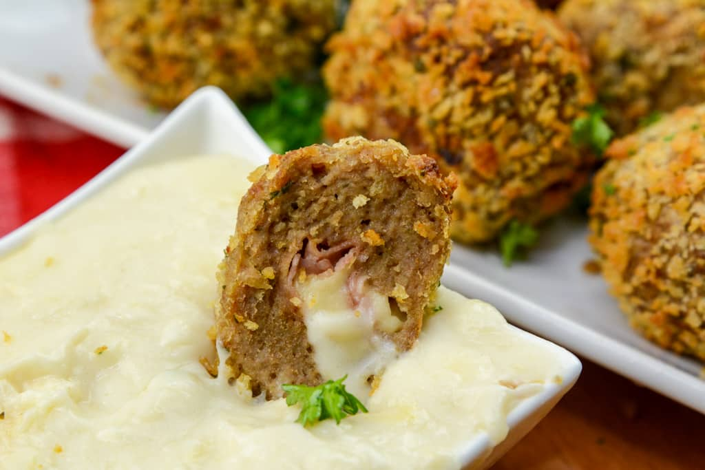 Chicken Cordon Bleu AirFryer Meatballs