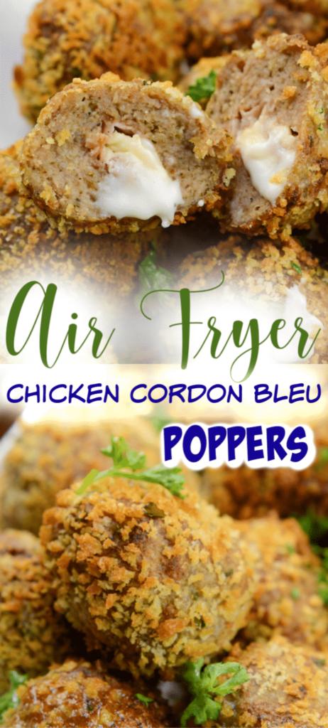 Chicken Cordon Bleu Meatballs Air Fryer