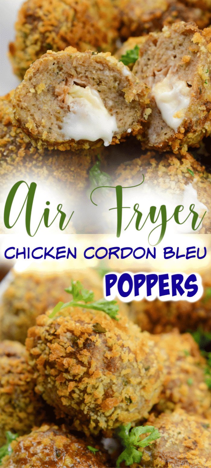 Chicken Cordon Bleu Meatballs Air Fryer