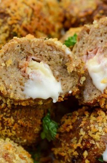 Chicken Cordon Bleu Meatballs Airfryer