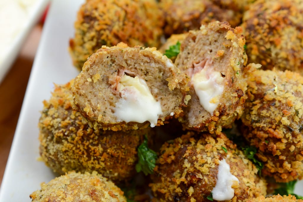 Chicken Cordon Bleu Meatballs Airfryer