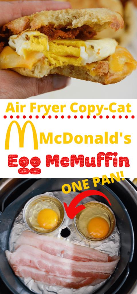 The Best Air Fryer McDonald's Copy Cat Egg McMuffin