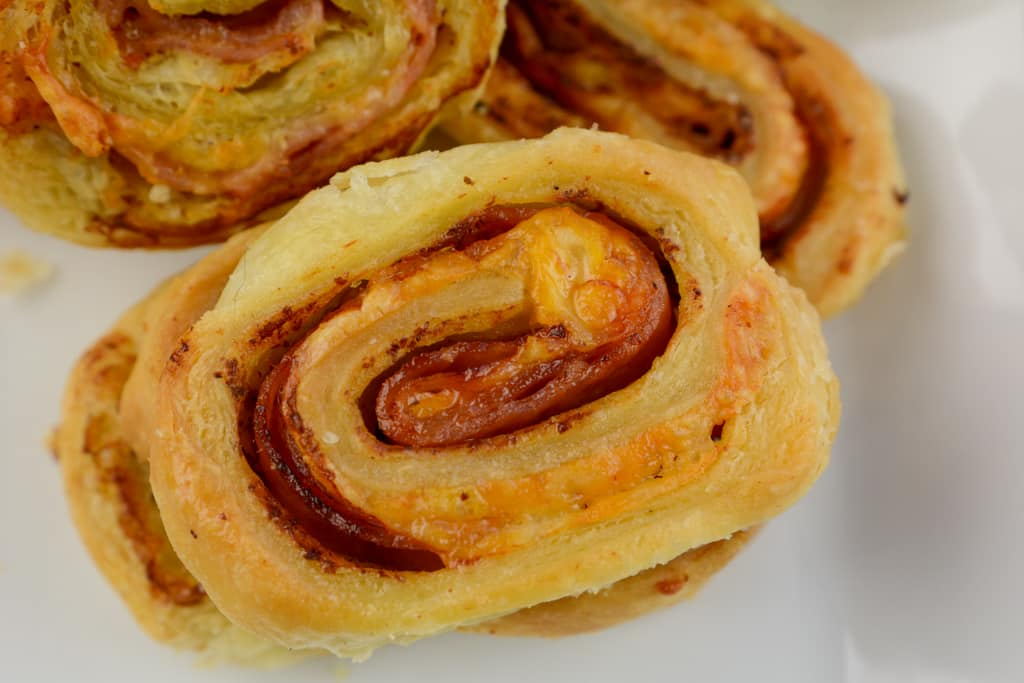 The World's Best Air Fryer Hot Ham and Cheese Pinwheels