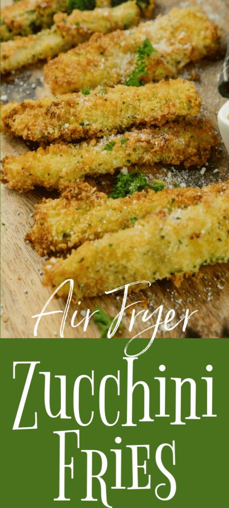 Air Fryer Garlic and Parm Zucchini Fries