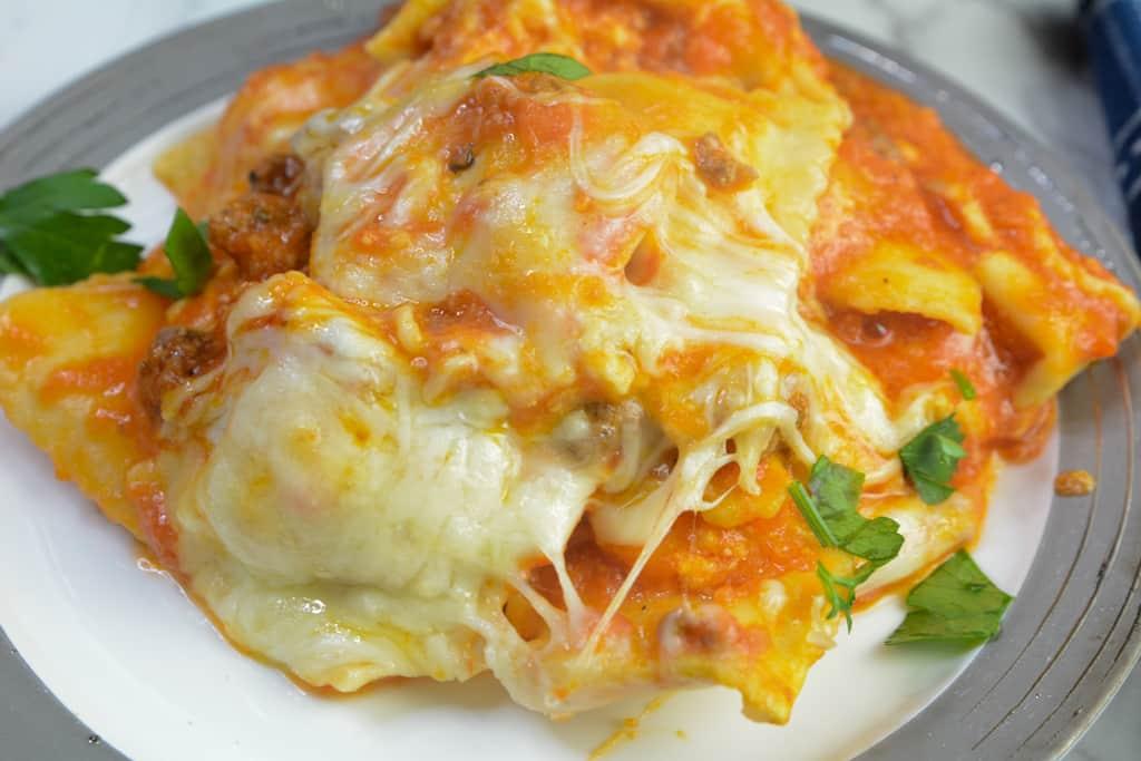 Instant Pot Lazy Ravioli Lasagna