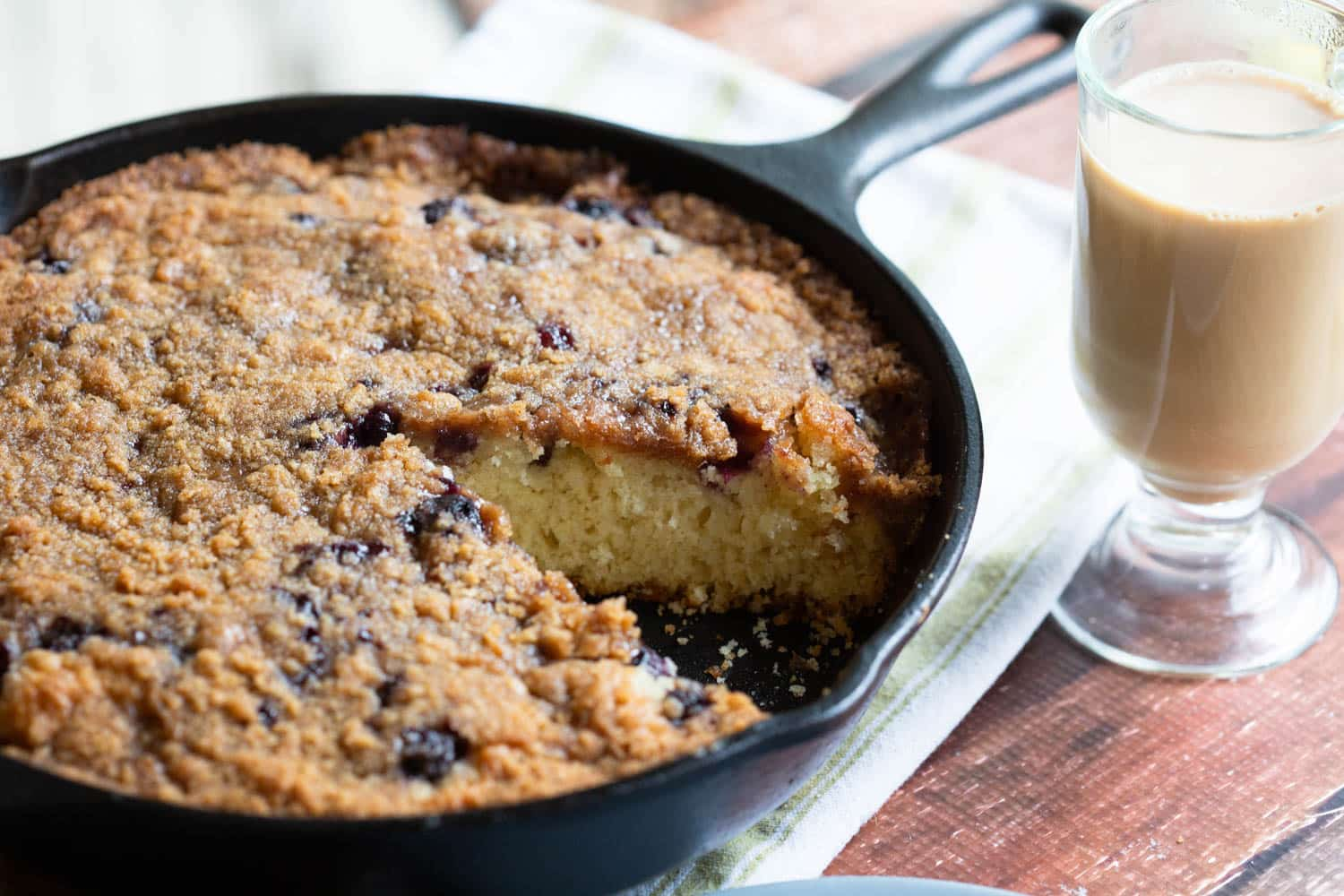 Cast Iron Blueberry Coffee Cake