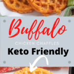 Keto Buffalo Chicken Chaffles