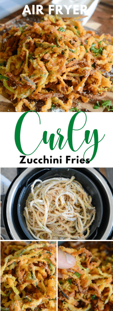 Air Fryer Zucchini Curly Fries