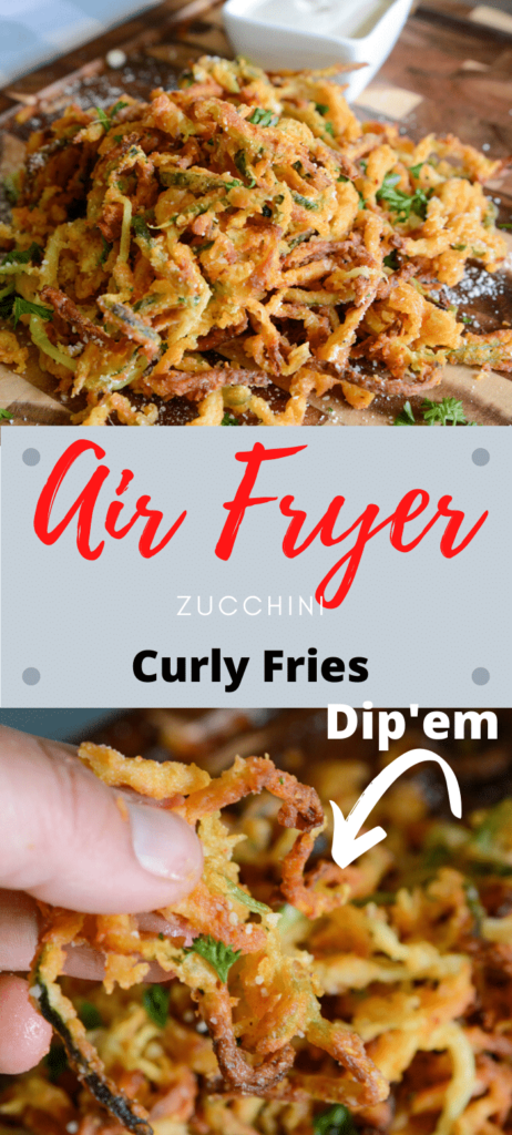 Air Fryer Zucchini Curly Fries
