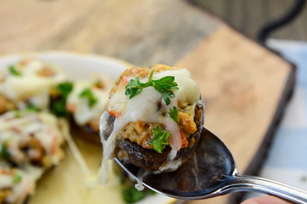 Red Lobster Air Fryer Stuffed Mushrooms