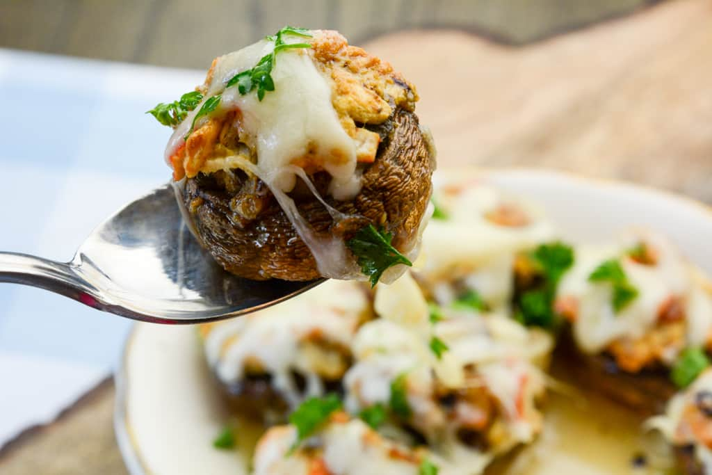 Copycat Red Lobster Air Fryer Stuffed Mushrooms