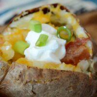 Air Fryer Loaded Baked Potato