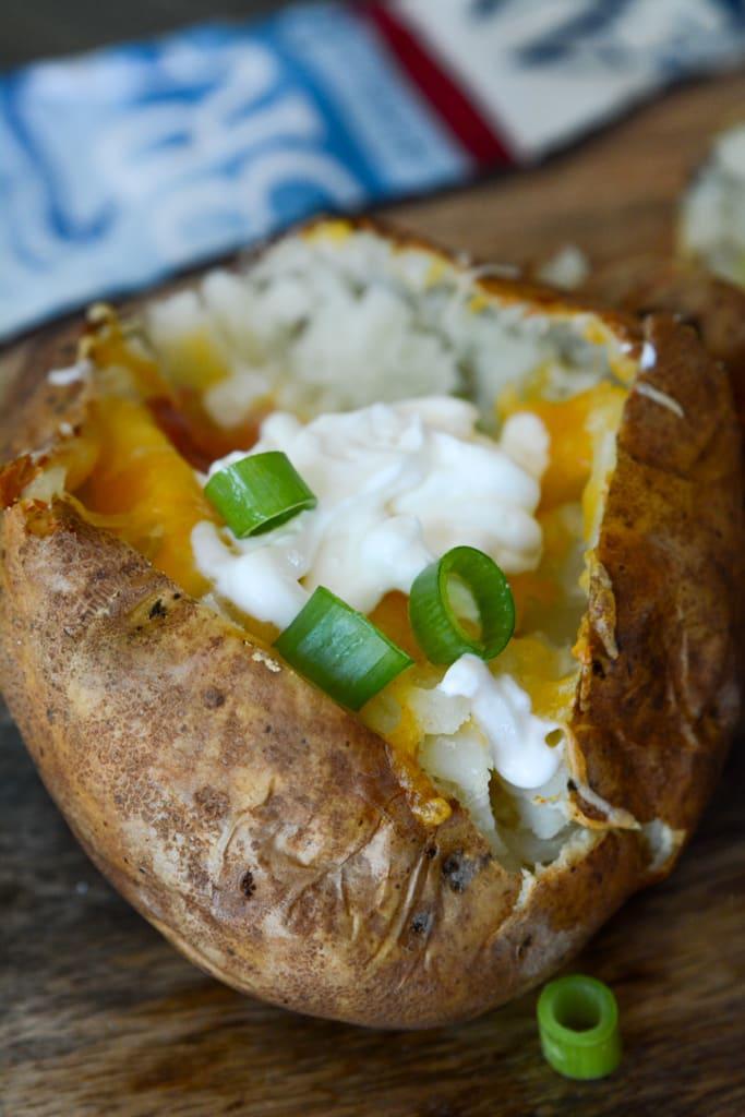 Loaded Baked Potato in Air Fryer