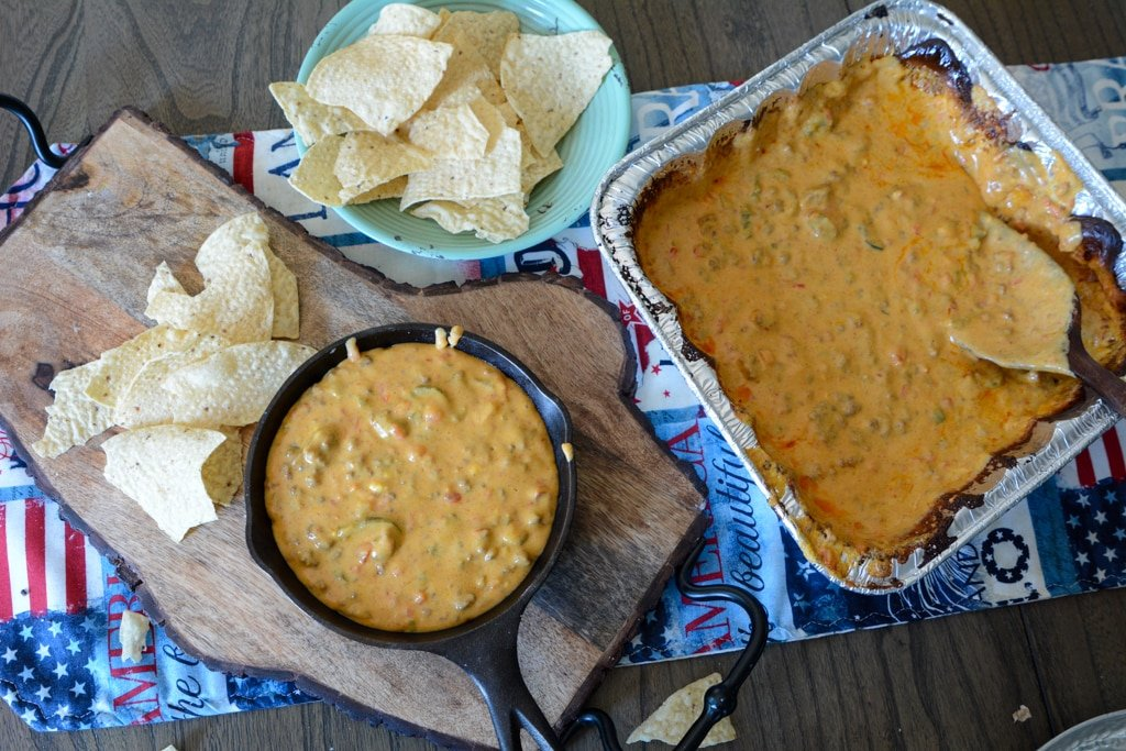 Campfire Queso with Black Beans