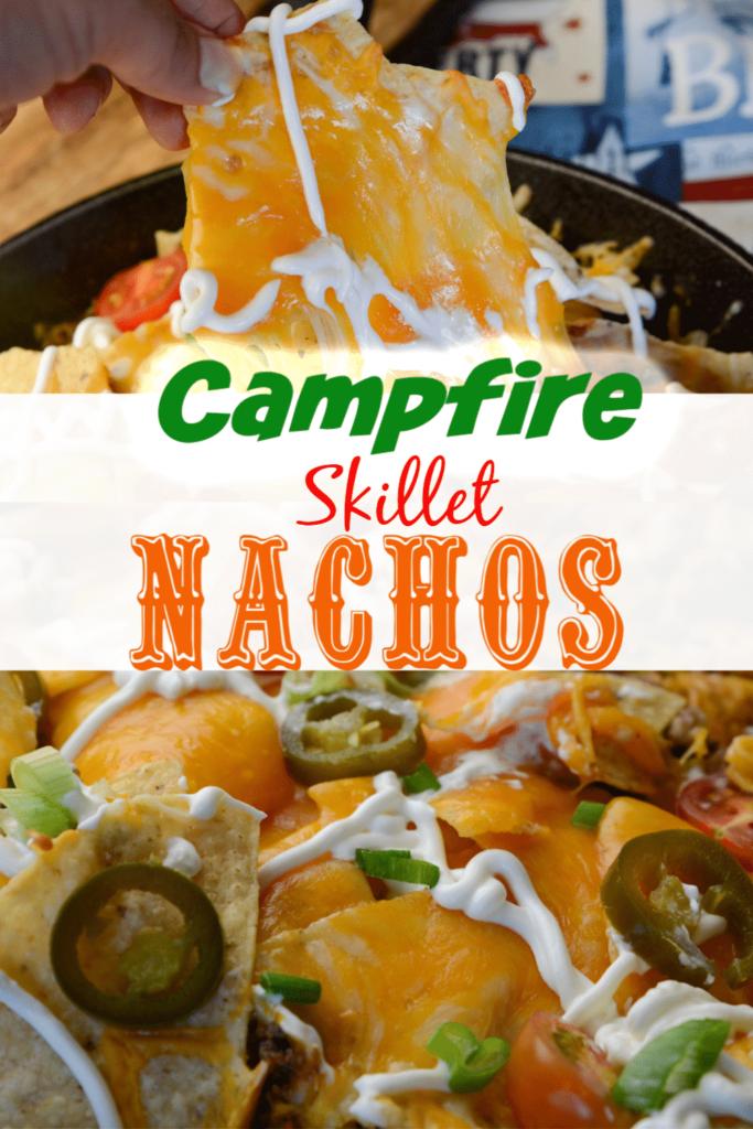 Skillet Campfire Nachos