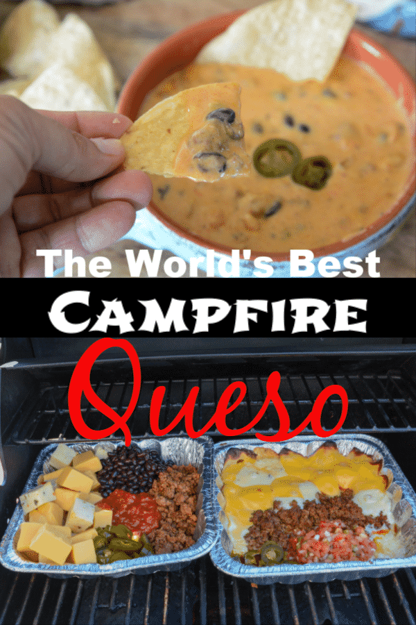The World's Best Campfire Queso Dip