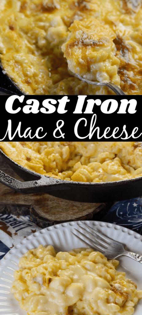 World's Best Cast Iron Macaroni and Cheese
