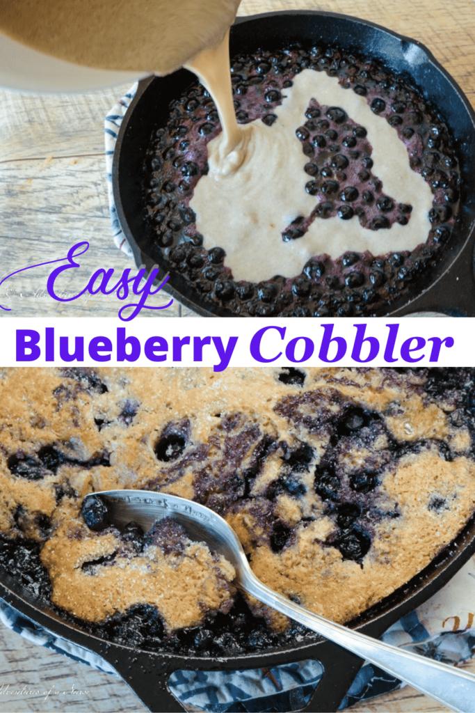 Cast Iron Skillet Blueberry Cobbler