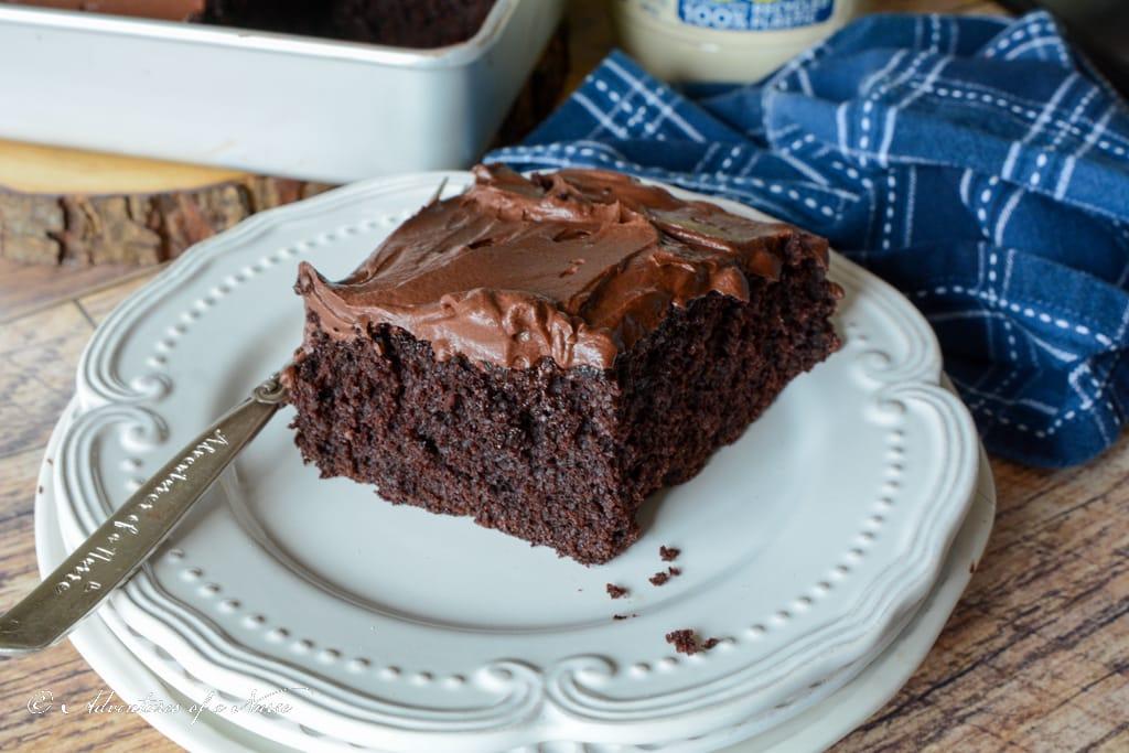 Classic Chocolate Mayonnaise Cake